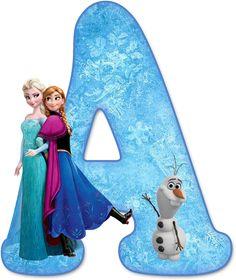 Alfabeto Decorativo: Alfabeto - Frozen - PNG - Letras - Maiúsculas e Minúsculas - DOWNLOAD.