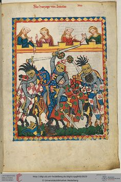 1300s tournament from the Manesse Codex