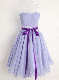Pretty High Quality Short Lavender Chiffon Sweetheart Bridesmaid Dress With Belt,Lavender Short Bridesmaid Dresses,Short Prom Dresses,Graduation Dresses Purple Bridesmaid Dresses, Prom Party Dresses, Purple Dress, Homecoming Dresses, Evening Dresses, Formal Dresses, Dress Prom, Lavender Bridesmaid, Chiffon Dress