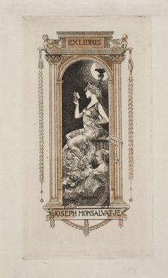 Ex-libris Joseph Monsalvatje Ex Libris, Easy Drawings For Beginners, Mexican Skulls, Decorative Borders, Botanical Illustration, Artist At Work, Joseph, Vintage World Maps, Museum