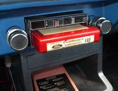 INSTALLED 8 track tape deck with cassette tape