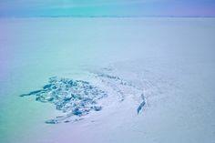 Greenland lake crater