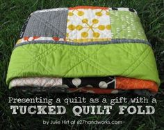 Julie from 627handworks brought us this fun little tutorial on how to fold your quilts. Julie is kind...