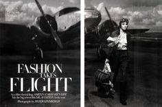 <p>AH ! Ia it again a 1950's inspired shoot !? The 1950's Trend is definitely coming strong !! Here is Heidi Mount in Fashion Takes Flight photographed by Peter Lindbergh for Harper's Baza
