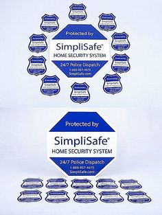 Security Signs And Decals Home Security System Sign Combo - Window decals for home security