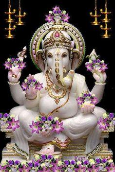Lord ganesha can be workshipped at any time and at any place and easy for devotees to seek his blessings. Workship lord ganesha on tamil new year to get lot of blessings. Shri Ganesh, Ganesh Lord, Ganesha Art, Lord Shiva, Krishna, Ganesh Tattoo, Ganesh Idol, Ganesh Statue, Jai Hanuman