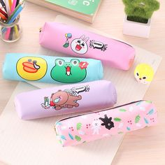 Funny Animals Cartoon Pu Leather Pencil Bag Stationery Storage Organizer Case School Supply #>=#>=#>=#>=#> Click on the pin to check out discount price, color, size, shipping, etc. Save and like it!