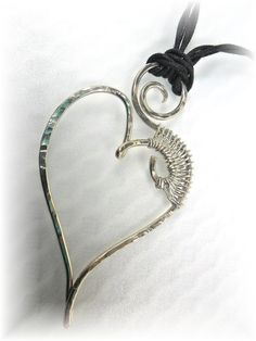 Be My Vallentime Wire Heart Pendant by ChicArtistique on Etsy, $18.59
