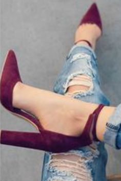 love the heels with jeans!