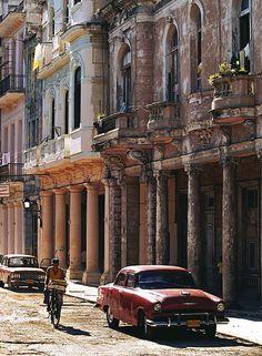 Havana, Cuba. Love the architecture.
