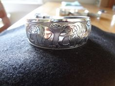 Shipping Included. No Fee. Beautiful Antiqued Tibetan Silver Cuff Bracelet (I) $5.99