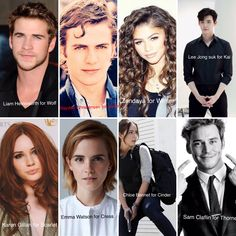 My DREAM lunar chronicles cast. Oh but I forgot Angelina Jolie for Levana