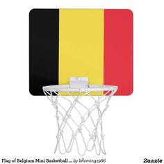 Flag of Belgium Mini Basketball Goal Mini Basketball Backboards