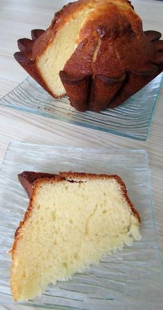 Gâteau au yaourt et au citron réalisé avec le Cook Expert Thermomix Desserts, Biscuits, Banana Bread, Caramel, Cooking, Breakfast, Cake, Food, Private Server