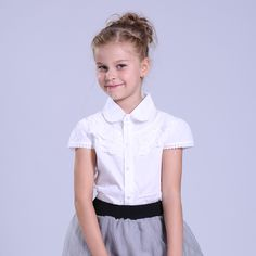 #AliExpress Big Girls White Blouse Summer Cotton Lace Girl Blouse For Girls Shirts Casual Kids Clothes School Uniforms Shirts 4 8 10 14 Year (32777326309) #SuperDeals