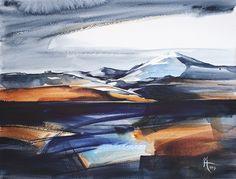 Watercolour Painting. Abstract Landscape on 200lb Langton paper. 38cms x 30cms