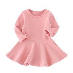 Infant Candy Color Cotton Dress