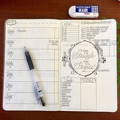 I like this idea of having the weekly calendar on one side, and a place for lists and doodles on the other!
