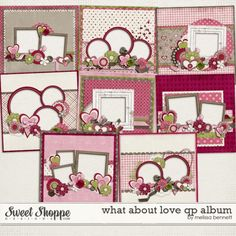 What about love qp album--sweet shoppe designs...these would make cute cards too I think!