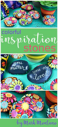Rock painting is at an all time high and that means it's time to grab some smooth stones (not from your neighbors yard) and go to town with some American Acrylic paints. #decoartrocks