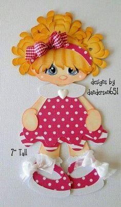 Girl in Pink Dress Paper Piecing PreMade 4 Border Scrapbook Albums Scrapbook Paper Crafts, Scrapbook Albums, Scrapbooking Layouts, Foam Crafts, Diy And Crafts, Art Gris, Paper Dolls Book, Paper Craft Supplies, Scrapbook Embellishments