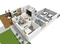 Projekt domu Astrid II G2 (mała) energo 99,44 m² - koszt budowy - EXTRADOM Design Case, Malaga, Houses