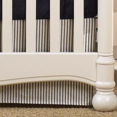 Navy Crib Skirt | Navy Baby Bedding | Baby Boy Nursery | Liz and Roo Fine Baby Bedding