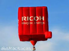 Special-shape hot-air balloon for RICOH built by Cameron Balloons in Bristol www.cameronballoons.co.uk Office Equipment, Hot Air Balloon, Bristol, Balloons, Neon Signs, Sky, Shapes, Technology, Heaven