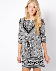 Womens Dresses Casual 2013 Fashion  Paisley Decorative Pattern Print Half Sleeve One-piece Dress Elegant
