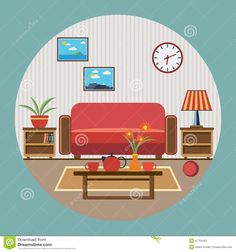 living room illustration - Google Search