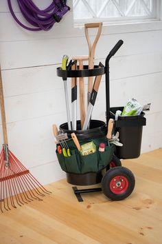 Outdoor Tools, Outdoor Tool Storage, Diy Garage Storage, Storage Caddy, Yard Tool Storage Ideas, Kitchen Storage, Lumber Storage, Storage Sheds, Closet Storage