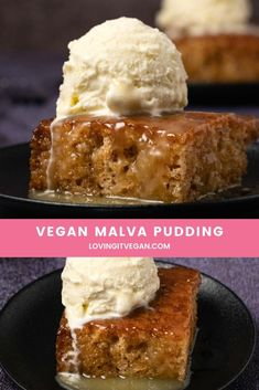 Best Vegan Recipes, Vegan Dessert Recipes, Just Desserts, Snack Recipes, Snacks, Vegan Treats, Vegan Foods, Malva Pudding, Vegan Pudding