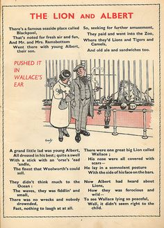 Marriott Edgar - 'The Lion and Albert', early 1930s poem made popular by Stanley Holloway recording.