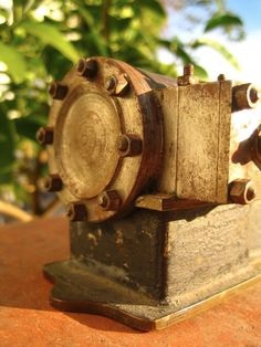 93b77d6dfe9 Antique Amazing 1860s Brass Live Horizontal Steam Engine Model Salesman  Sample