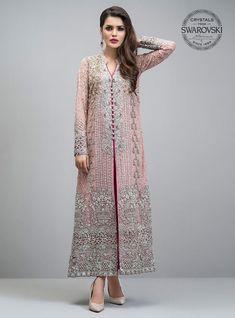 Georgette Pakistani Suit In Baby Pink Colour - Pakistani dresses Pakistani Party Wear, Indian Party Wear, Pakistani Bridal Dresses, Pakistani Suits, Indian Dresses, Indian Outfits, Emo Outfits, Designer Salwar Kameez, Pakistani Salwar Kameez