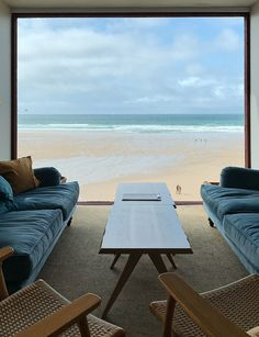 A traditional bucket-and-spade holiday hotel since the 1970s, Watergate Bay now, run by the next generation of the same family, does its job of appealing to all ages with great style and its Extreme Academy for watersports makes the most of its location on one of Cornwall's best surfing beaches. Interiors are cleverly designed to draw on the landscape and views. Bucket And Spade, Holiday Hotel, House Extensions, Outdoor Furniture Sets, Outdoor Decor, Our World, Cornwall, Sun Lounger, Surfing