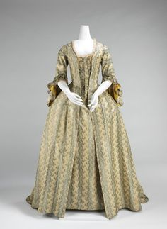 Dress (Robe à la Française), 1760-70, Brooklyn Museum Costume Collection at the Met