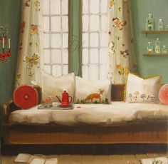 The Fox In The Bed - by Janet Hill