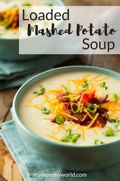 This quick and easy recipe for Loaded Mashed Potato Soup is perfect to make on chilly evenings. Loaded with cheese, bacon, and chunks of buttery potato, it hits the spot for a quick dinner or while watching the big game. Getting a homemade potato soup on the table has never been this easy!