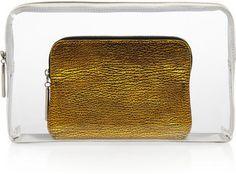 ShopStyle: 3.1 Phillip Lim 31 Minute leather-trimmed PVC clutch