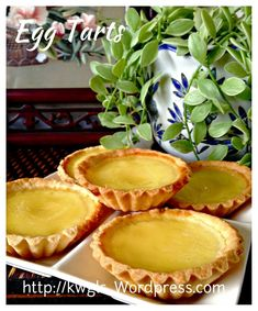 Hong Kong Short Crust Pastry Egg Tarts (港式蛋挞)