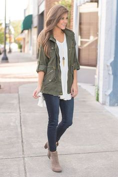 """Leave It To Me Jacket, Olive"" Just leave it to this jacket to make an outfit complete! This cargo style jacket is so trendy and has been for some time now! #newarrivals #shopthemint"