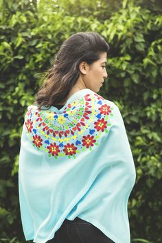 Hand painted shawl ...by Jumana Salfiti