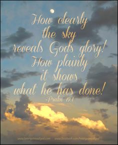 God's Glory Revealed~<3
