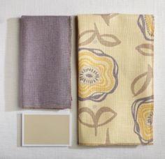Yellow Fabric Coordination | #MaineCottage