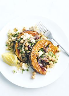 Roasted Pumpkin, Feta, and Quinoa Salad #pumpkin #fall #salad