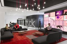 Ever wonder what it's like to have an office inside the Empire State Building? @Shutterstock's new headquarters feature a yoga room, two game rooms, a secret library, and a café. Take a closer look at their new 85,000 sq. ft. office space here: http://shutr.bz/1n2JFZm