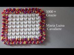 Punto mandorle all'uncinetto adatto per copertine tutorial - YouTube