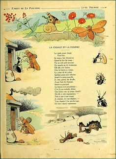 La Fontaine - La cigale et la fourmi