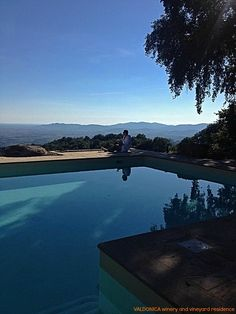 Enchanting #scenery of a relaxing day by the #pool , under an oak branch , #sipping wine and watching the #estate of VALDONICA.